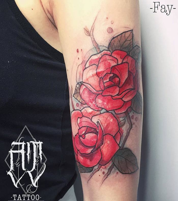 Camellia Tattoo by attattoo_fay