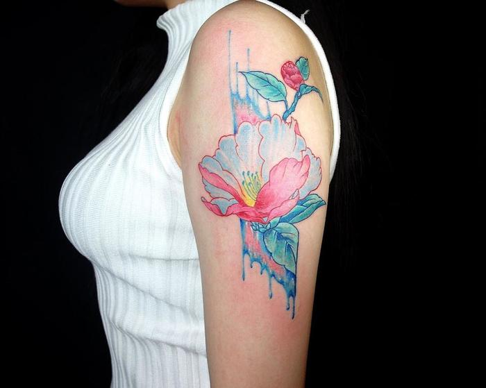 Camellia Tattoo by ednana4