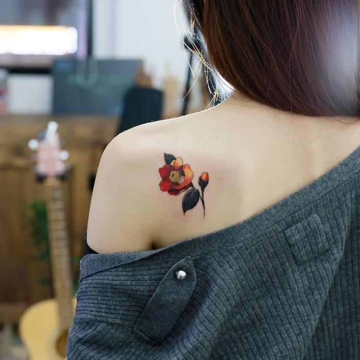 Camellia Tattoo by tattooist_doy