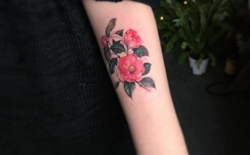24 Beautiful and Elegant Camellia Tattoo Designs