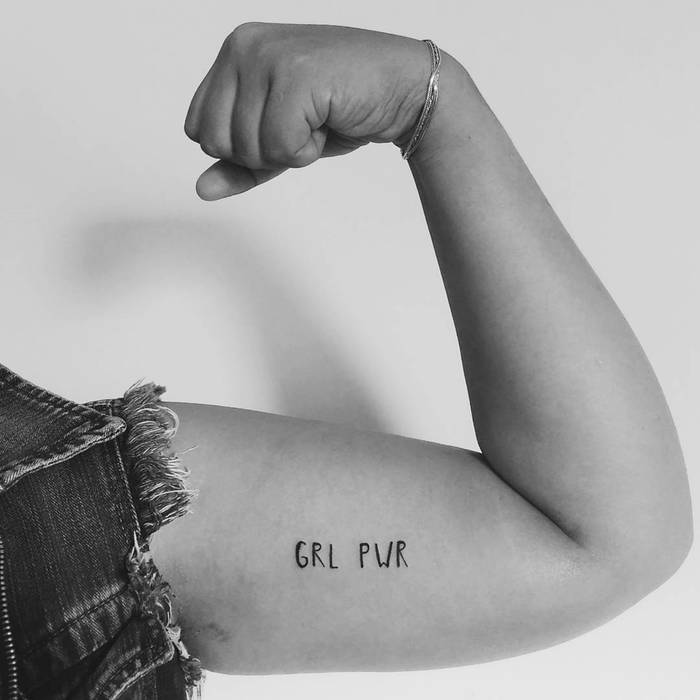 Grl Pwr Tattoo by hardcandy.tattoo