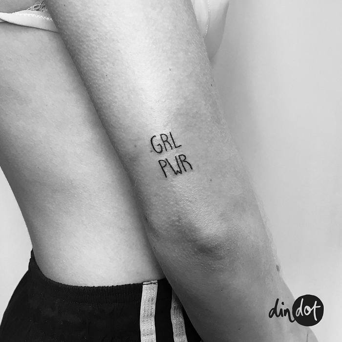 Grl Pwr Tattoo by dindottattoo