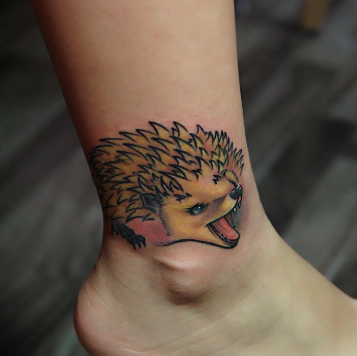 Hedgehog Tattoo by beautytattoo_bai