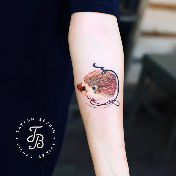 Hedgehog Tattoo by tayfunbezgin