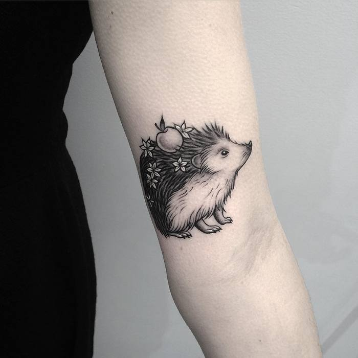 Hedgehog Tattoo by lazerliz
