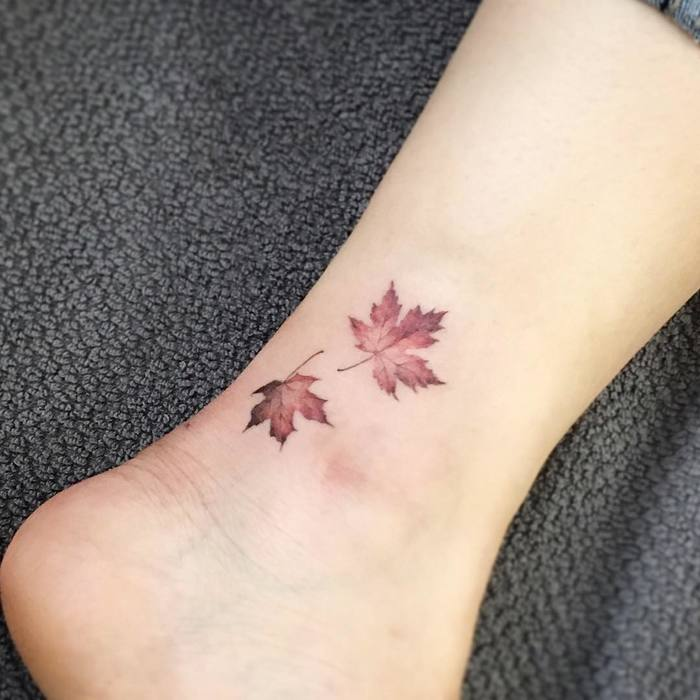Maple Leaf Tattoo by tattooist_flower