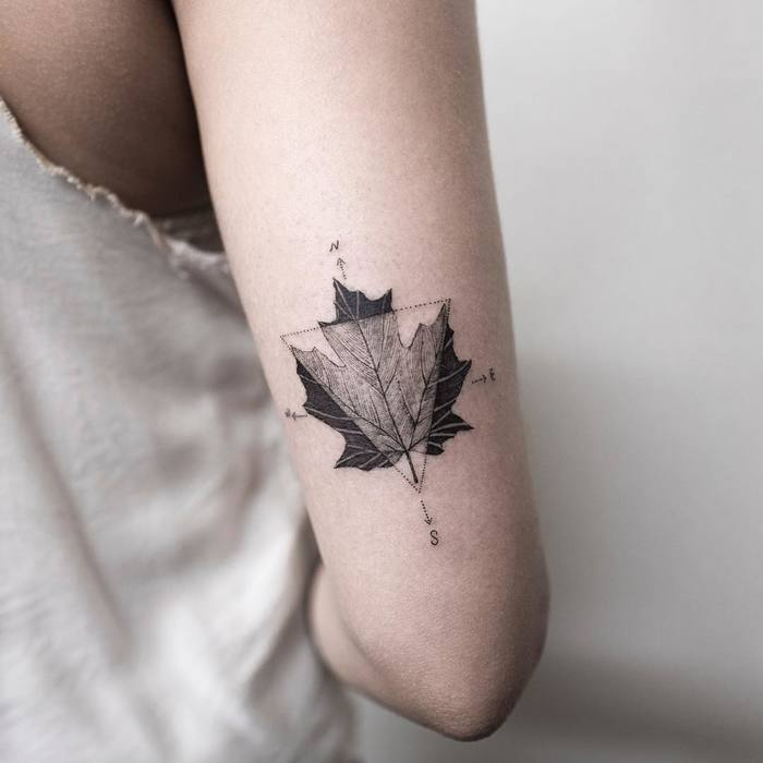 Maple Leaf Tattoo by ilwolhongdam