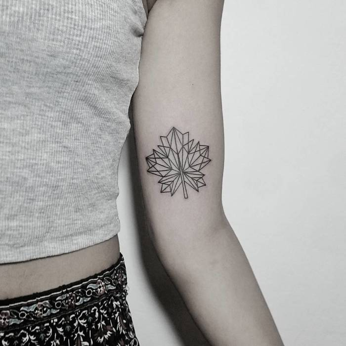 Maple Leaf Tattoo by denizhanozkr
