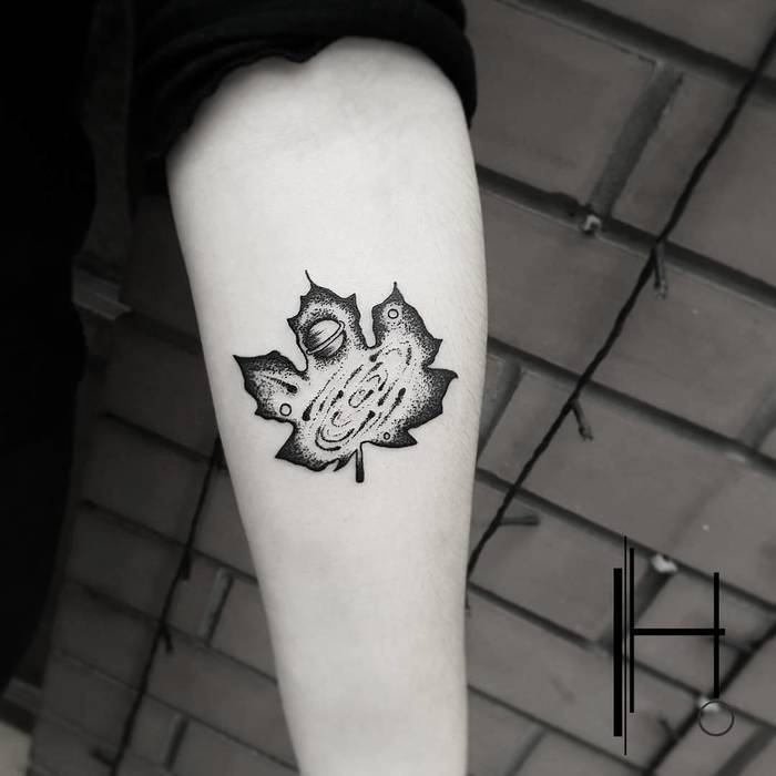 Maple Leaf Tattoo by hakanadik
