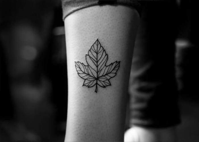 Maple Leaf Tattoo by blvckwork