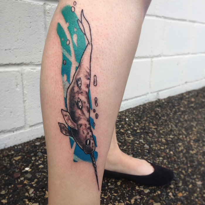 Narwhal Tattoo by peterharren