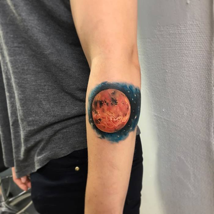 Planet Tattoo by vladatattooart