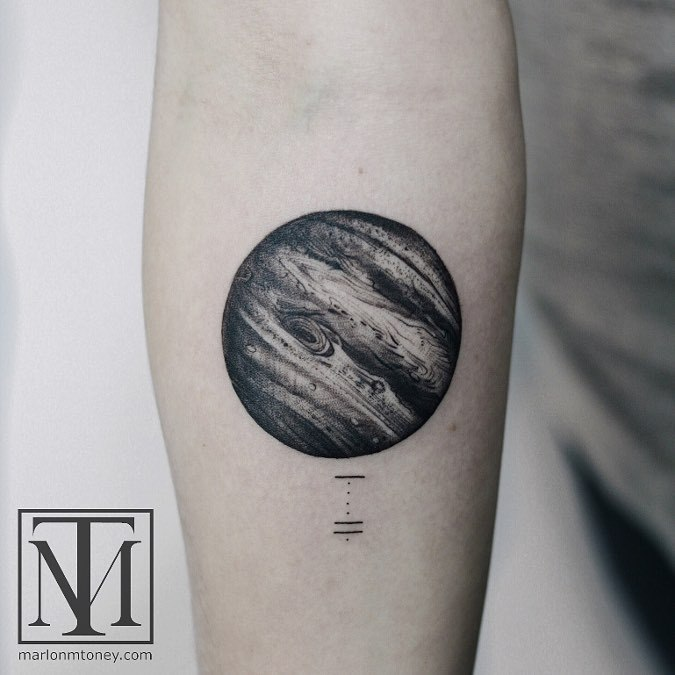 40 Lovely Planet Tattoo Designs And Meanings Page 3 Of 4