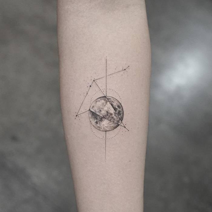 Aquila Constellation Tattoo by Mr. K