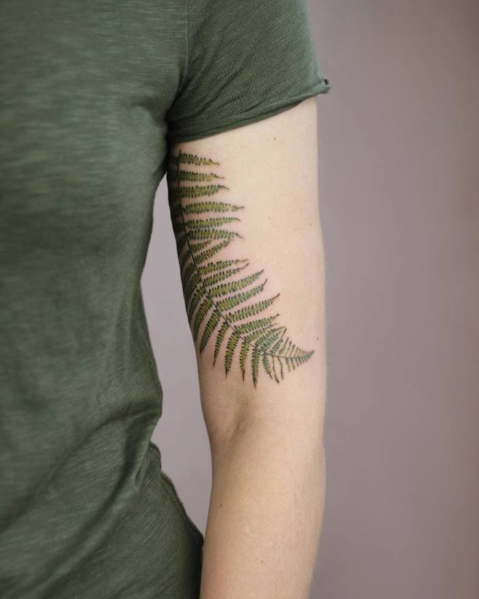 Fern Leaf Tattoo by Cindy van Schie