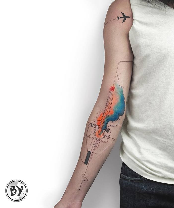 Watercolor Tattoos by Baris Yesilbas