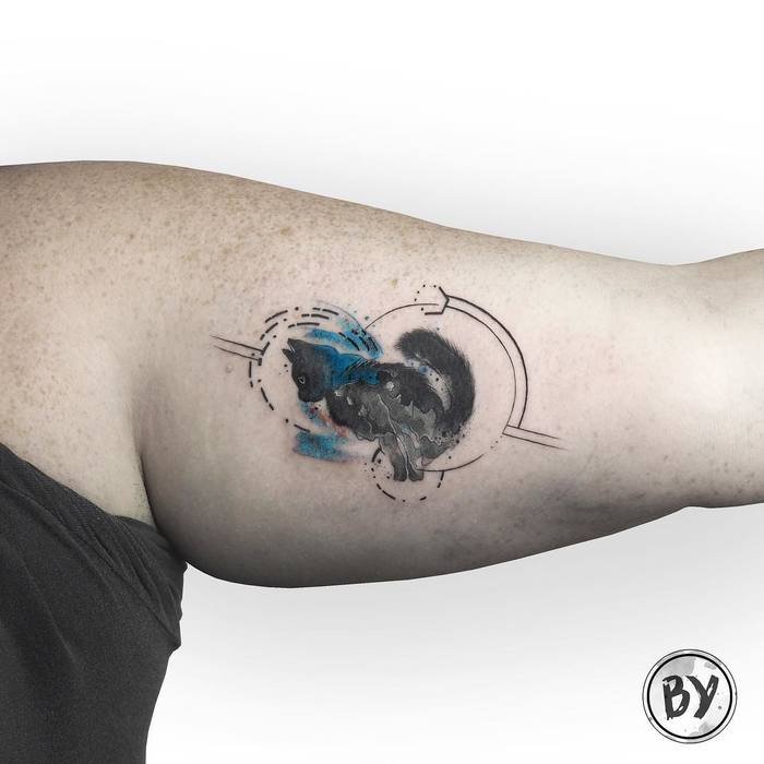Watercolor Tattoo by Baris Yesilbas