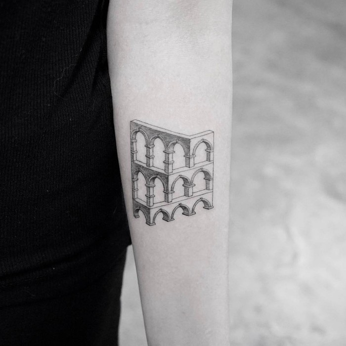 Optical Illusion Tattoo by Mr. K