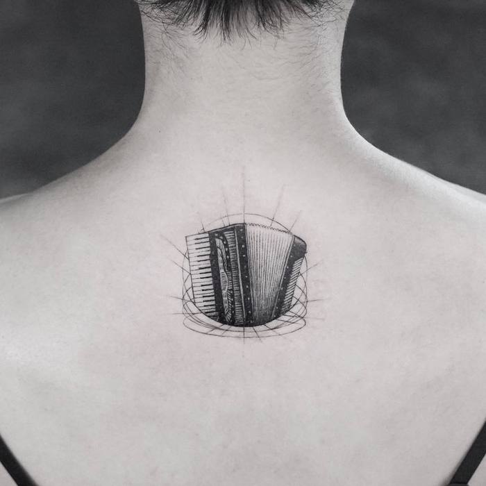 Accordion Tattoo by Mr. K