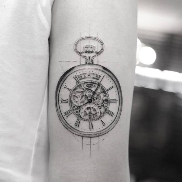 Clock Tattoo by Mr. K