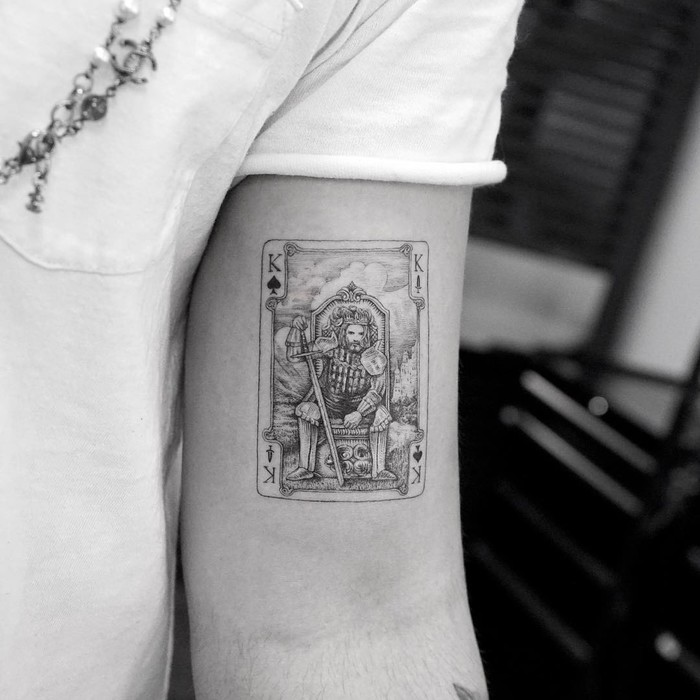 King Card Tattoo by Mr. K