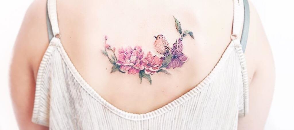 33 Nature Inspired Illustrative Tattoos by Luiza Oliveira
