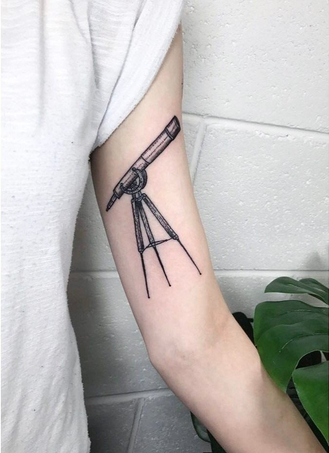 Telescope Tattoo by carlatattoos