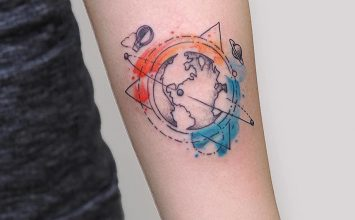 22 Gorgeous Watercolor Tattoos by Baris Yesilbas