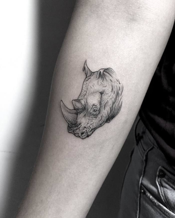 Rhino Tattoo by zionele