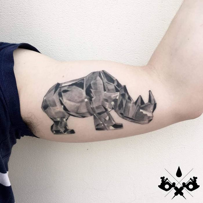Rhino Tattoo by aleromeo_tattoo