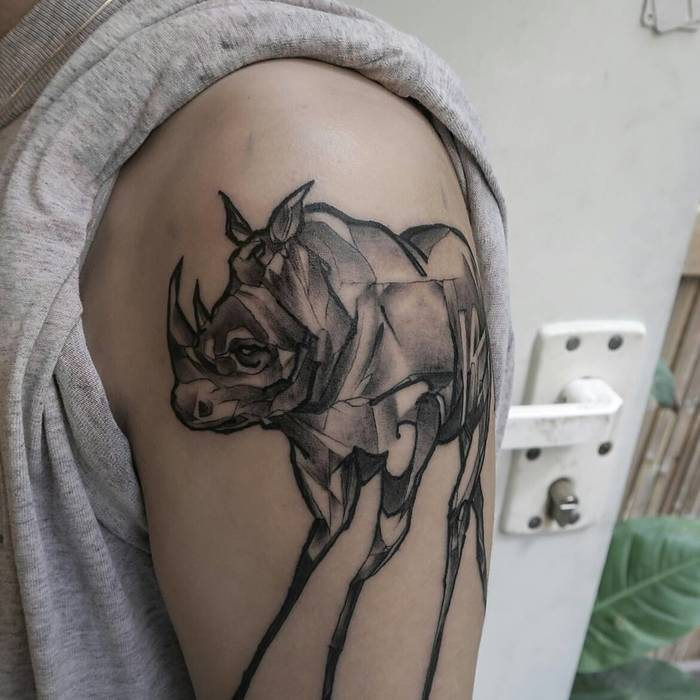Rhino Tattoo by omershatz