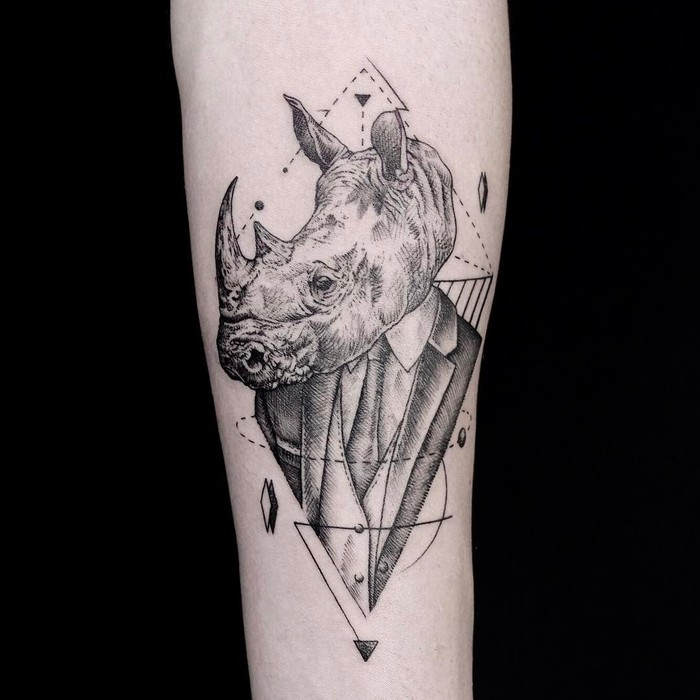 Rhino Tattoo by emrahozhan