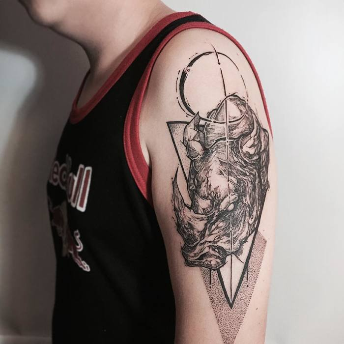 Rhino Tattoo by jonlimtattoos