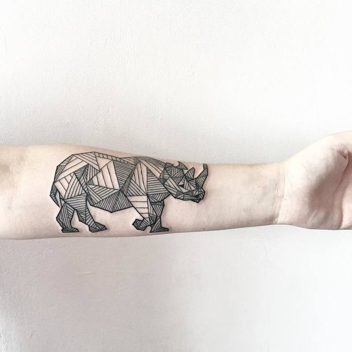 Rhino Tattoo by wpkorvis