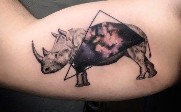 28 Creative Rhino Tattoo Designs and Ideas